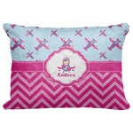 """Airplane Theme - for Girls Decorative Baby Pillowcase - 16""""x12"""" (Personalized)"""