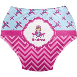 Airplane Theme - for Girls Diaper Cover (Personalized)