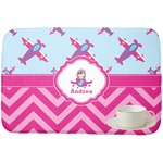 Airplane Theme - for Girls Dish Drying Mat (Personalized)