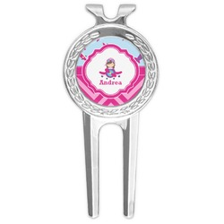 Airplane Theme - for Girls Golf Divot Tool & Ball Marker (Personalized)