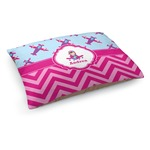 Airplane Theme - for Girls Dog Bed (Personalized)