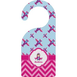 Airplane Theme - for Girls Door Hanger (Personalized)