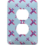 Airplane Theme - for Girls Electric Outlet Plate (Personalized)