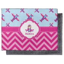 Airplane Theme - for Girls Microfiber Screen Cleaner (Personalized)