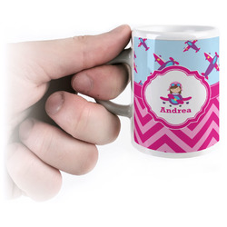 Airplane Theme - for Girls Espresso Cups (Personalized)