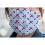 Airplane Theme - for Girls Face Mask Cover (Personalized)