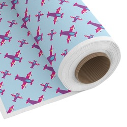 Airplane Theme - for Girls Custom Fabric by the Yard (Personalized)