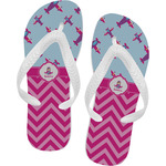 Airplane Theme - for Girls Flip Flops (Personalized)