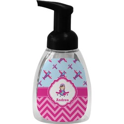 Airplane Theme - for Girls Foam Soap Dispenser (Personalized)