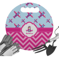 Airplane Theme - for Girls Gardening Knee Cushion (Personalized)