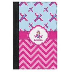 Airplane Theme - for Girls Genuine Leather Passport Cover (Personalized)