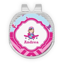 Airplane Theme - for Girls Golf Ball Marker - Hat Clip