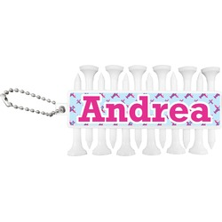 Airplane Theme - for Girls Golf Tees & Ball Markers Set (Personalized)