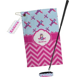 Airplane Theme - for Girls Golf Towel Gift Set (Personalized)