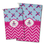 Airplane Theme - for Girls Golf Towel - Full Print w/ Name or Text