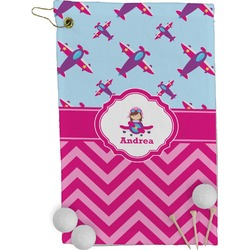 Airplane Theme - for Girls Golf Towel - Full Print (Personalized)