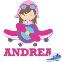 Airplane Theme - for Girls Graphic Iron On Transfer (Personalized)