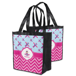 Airplane Theme - for Girls Grocery Bag (Personalized)