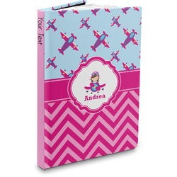 Airplane Theme - for Girls Hardbound Journal (Personalized)