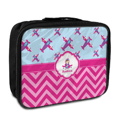 Airplane Theme - for Girls Insulated Lunch Bag (Personalized)