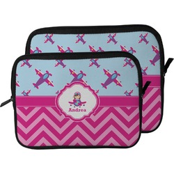 Airplane Theme - for Girls Laptop Sleeve / Case (Personalized)