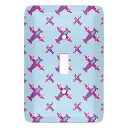 Airplane Theme - for Girls Light Switch Cover (Single Toggle) (Personalized)