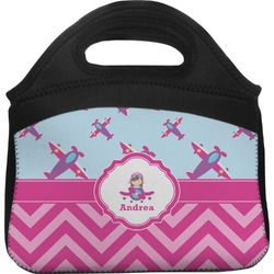 Airplane Theme - for Girls Lunch Tote (Personalized)