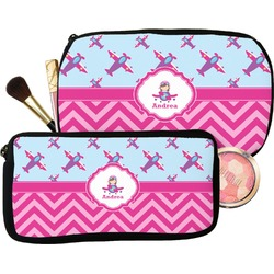 Airplane Theme - for Girls Makeup / Cosmetic Bag (Personalized)