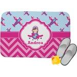 Airplane Theme - for Girls Memory Foam Bath Mat (Personalized)