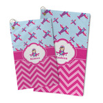 Airplane Theme - for Girls Microfiber Golf Towel (Personalized)