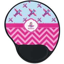 Airplane Theme - for Girls Mouse Pad with Wrist Support