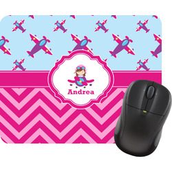 Airplane Theme - for Girls Mouse Pads (Personalized)