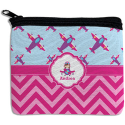 Airplane Theme - for Girls Rectangular Coin Purse (Personalized)