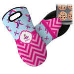 Airplane Theme - for Girls Neoprene Oven Mitt (Personalized)