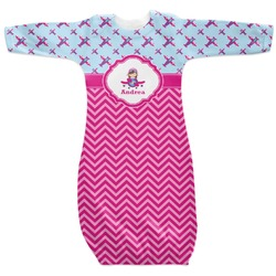 Airplane Theme - for Girls Newborn Gown (Personalized)
