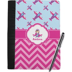 Airplane Theme - for Girls Notebook Padfolio (Personalized)
