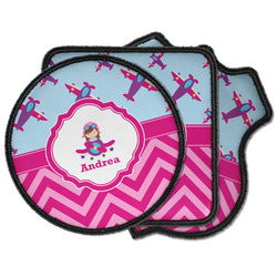 Airplane Theme - for Girls Iron on Patches (Personalized)