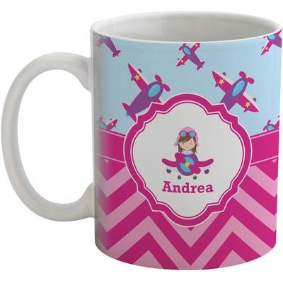 Airplane Theme - for Girls Coffee Mug (Personalized)