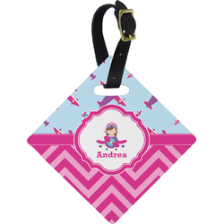 Airplane Theme - for Girls Diamond Luggage Tag (Personalized)