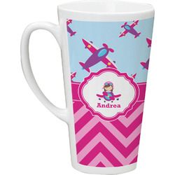 Airplane Theme - for Girls Latte Mug (Personalized)