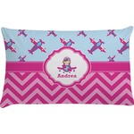 Airplane Theme - for Girls Pillow Case (Personalized)
