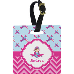 Airplane Theme - for Girls Luggage Tags (Personalized)