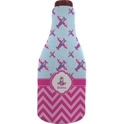 Airplane Theme - for Girls Wine Sleeve (Personalized)