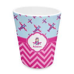 Airplane Theme - for Girls Plastic Tumbler 6oz (Personalized)