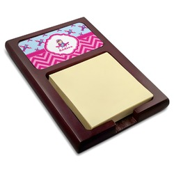Airplane Theme - for Girls Red Mahogany Sticky Note Holder (Personalized)