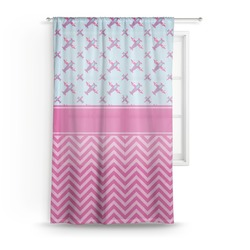 Airplane Theme - for Girls Sheer Curtains (Personalized)