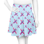 Airplane Theme - for Girls Skater Skirt (Personalized)