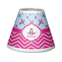 Airplane Theme - for Girls Chandelier Lamp Shade (Personalized)