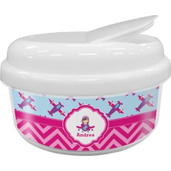Airplane Theme - for Girls Snack Container (Personalized)