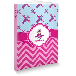 Airplane Theme - for Girls Softbound Notebook (Personalized)